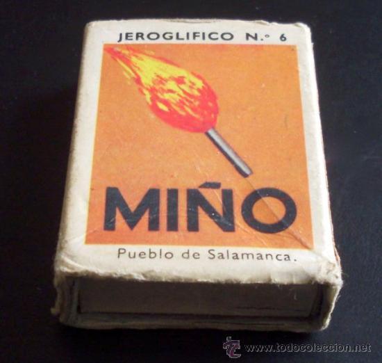 CAJA DE CERILLAS - JEROGLÍFICOS (Coleccionismo - Objetos para Fumar - Cajas de Cerillas)
