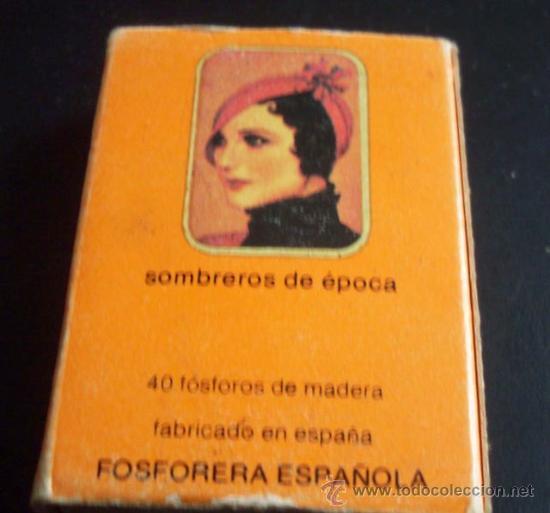 Cajas de Cerillas: CAJA DE CERILLAS - SOMBREROS DE EPOCA - Foto 2 - 26942610