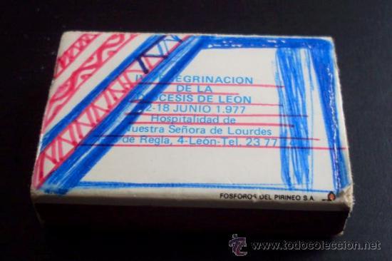 Cajas de Cerillas: CAJA DE CERILLAS - PEREGRINACIÓN A LOURDES - 1977 - Foto 2 - 26791964