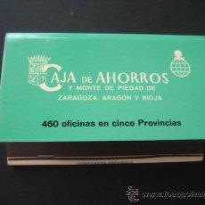 Cajas de Cerillas: ANTIGUA CAJA DE CERILLAS. CAJA DE AHORROS Y MONTE DE PIEDAD DE ZARAGOZA ARAGON Y RIOJA. 47DIA AHORRO. Lote 21783308