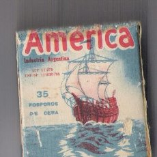 Cajas de Cerillas: AMERICA INDUSTRIA ARGENTINA *S.A.J.MANTERO Y BAIXA LDA. -AVELLANEDA * **CON FOSFOROS ORIGINALES***. Lote 21995013
