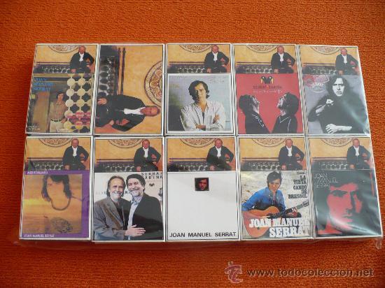 LOTE DE 10 CAJAS DE CERILLAS FOSFOROS COLECCIONABLES DE JOAN MANUEL SERRAT (Coleccionismo - Objetos para Fumar - Cajas de Cerillas)