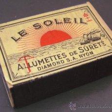 Cajas de Cerillas: CAJA DE CERILLAS FRANCESAS / ALLUMETTES -LE SOLEIL - AÑOS 60 APROX (LLENA). Lote 23741817