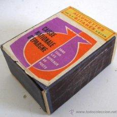 Cajas de Cerillas: CAJA DE CERILLAS DE GRAN TAMAÑO, CAISSE NATIONALE D´EPARGNE, ALLUMETTES GITANES (USADO). Lote 23804771