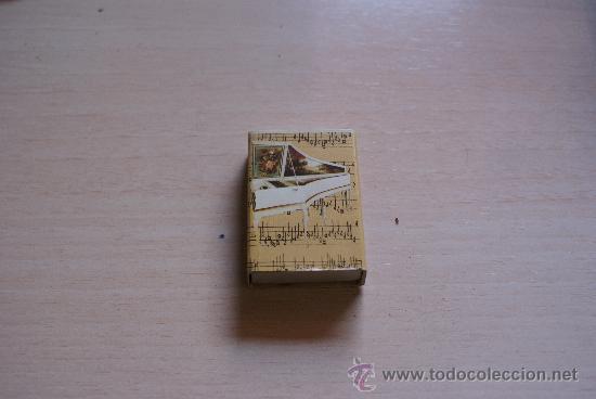 CAJOTA DE CERILLAS / FOSFOROS COLECCION EL MUNDO DE LA MUSICA Nº 3 (Coleccionismo - Objetos para Fumar - Cajas de Cerillas)