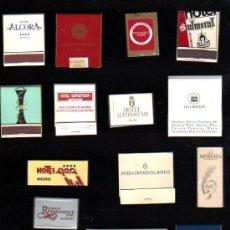Cajas de Cerillas: LOTE DE 17 CAJAS DE CERILLAS DE HOTELES. Lote 28177814