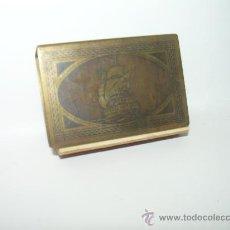 Cajas de Cerillas: ANTIGUO CERILLERO DE LATON....MOTIVOS MARINEROS.. Lote 28324365