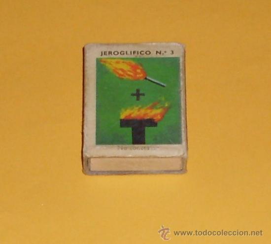 CAJA DE CERILLAS JEROGLIFICOS - NUM 3 (Coleccionismo - Objetos para Fumar - Cajas de Cerillas)