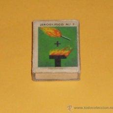 Cajas de Cerillas: CAJA DE CERILLAS JEROGLIFICOS - NUM 3. Lote 28630625