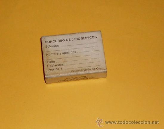 Cajas de Cerillas: CAJA DE CERILLAS JEROGLIFICOS - NUM 3 - Foto 2 - 28630625