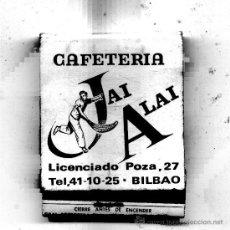 Cajas de Cerillas: CAJA DE CERILLAS LLENA /// CAFETERIA JAI ALAY // BILBAO /// ES EN COLOR . Lote 29818006