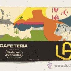 Cajas de Cerillas: CAJA DE CERILLAS // CAFETERIA - GALERIAS PRECIADOS . Lote 29895856