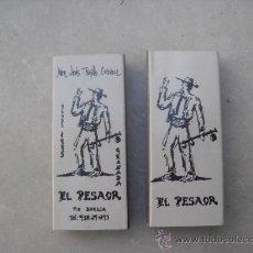 Cajas de Cerillas: 2 CAJAS DE CERILLAS LLENAS - EL PESAOR. Lote 30258124
