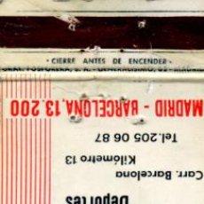 Cajas de Cerillas: CAJAS DE CERILLAS. CARTERITA. PISCINA RESTAURANTE TABARCA. Lote 30582416
