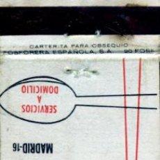 Cajas de Cerillas: CAJAS DE CERILLAS. CARTERITA. RESTAURANTE ITALIANO BORGHÉSE. MADRID. Lote 30582428