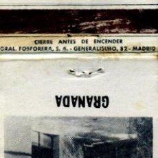Cajas de Cerillas: CAJA DE CERILLAS. CARTERITA. TABLAO FLAMENCO REY CHICO. GRANADA. Lote 30608631
