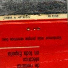 Cajas de Cerillas: CAJA DE CERILLAS. CARTERITA. ELECTROFIL. Lote 30631413