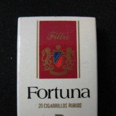 Cajas de Cerillas: CAJA DE CERILLAS PAQUETE TABACO FORTUNA. Lote 30933633