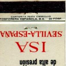Cajas de Cerillas: CAJA DE CERILLAS. CARTERITA. ISA INDUSTRIAS SUBSIDIARIAS DE AVIACION. SEVILLA. Lote 31037765