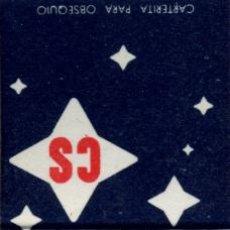 Cajas de Cerillas: CAJA DE CERILLAS. CARTERITA. LUBRICANTE CS. EMPRESA NACIONAL CALVO SOTELO. Lote 31037838