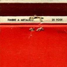 Cajas de Cerillas: CAJA DE CERILLAS. CARTERITA. . Lote 31039314