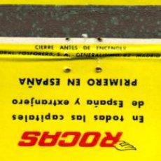 Cajas de Cerillas: CAJA DE CERILLAS. CARTERITA. ALQUILER DE AUTOS SIN CHOFER ROCAS. Lote 31239397