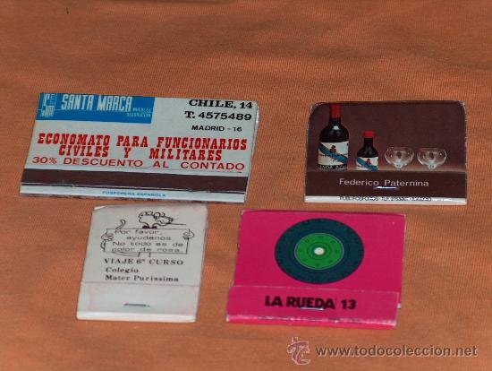 CAJAS DE CERILLAS AÑOS 70. (Coleccionismo - Objetos para Fumar - Cajas de Cerillas)