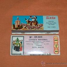 Cajas de Cerillas: CAJA CERILLAS, MESÓN SIXTO, CON LOTERIA Nº. 23502, AÑO 1971.. Lote 31581334