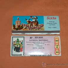 Cajas de Cerillas: CAJA CERILLAS, MESÓN SIXTO, CON LOTERIA Nº. 23502, AÑO 1971.. Lote 31581341