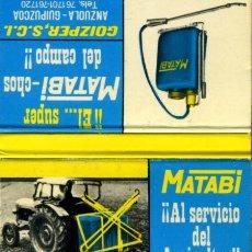 Cajas de Cerillas: CAJA DE CERILLAS. CARTERITA. MATABI. AL SERVICIO DEL AGRICULTOR. ANZUOLA-GUIPUZCOA. Lote 31868213