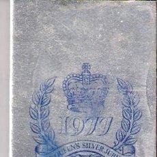 Cajas de Cerillas: 1977. THE QUEENS SILVER JUBILEE. JUBILEO DE LA REINA ISABEL II.CERILLAS. FOSFOROS.COMPLETA.PERFECTA.. Lote 32241237