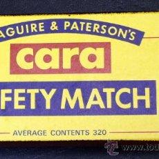 Boîtes d'Allumettes: CAJA DE CERILLAS - MAGUIRE & PATERSON´S - CARA - SAFETY MATCH - Nº 4 SERIE - LONG-EARED OWL. Lote 32439895