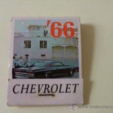 Cajas de Cerillas: CERILLAS CHEVROLET 66 CANADA. Lote 32969498