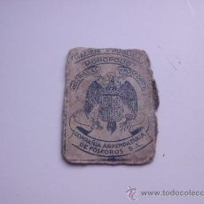 Cajas de Cerillas: HACIENDA PUBLICA MONOPOLIO COMPAÑIA ARRENDATARIA DE FOSFOROS S,A, . Lote 33549568
