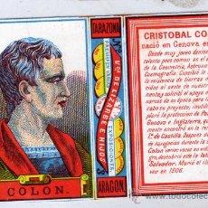 Cajas de Cerillas: CROMO CAJA DE CERILLAS. TARAZONA. ARAGON. VIUDA DE LIZARBE E HIJOS. CRISTOBAL COLON.. Lote 33695456