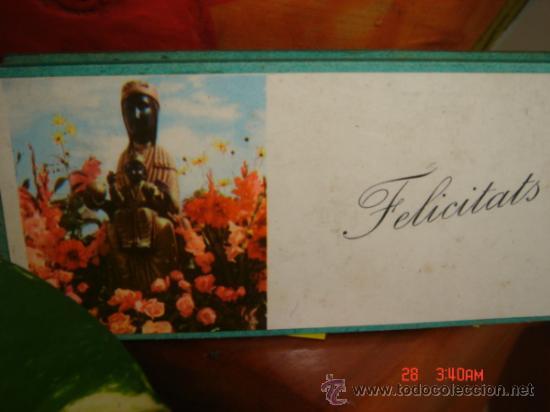CAJA DE CERILLAS FELICIDADES, RECUERDO DE MONTSERRAT, CON CERILLAS ORIGINALES (Coleccionismo - Objetos para Fumar - Cajas de Cerillas)