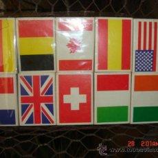 Cajas de Cerillas: 10 CAJAS DE CERILLAS, LLENAS BANDERAS DEL MUNDO. Lote 33878399