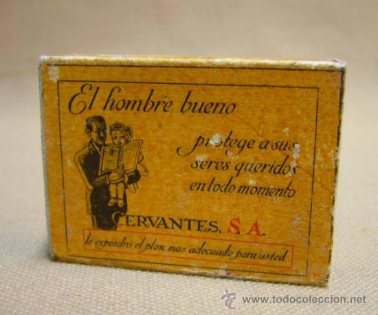 Cajas de Cerillas: RARA CAJA DE CERILLAS, HACIENDA PUBLICA, COMPANIA ARRENDATARIA DE FOSFOROS, CERVANTES S.A., MADRID - Foto 2 - 35101576