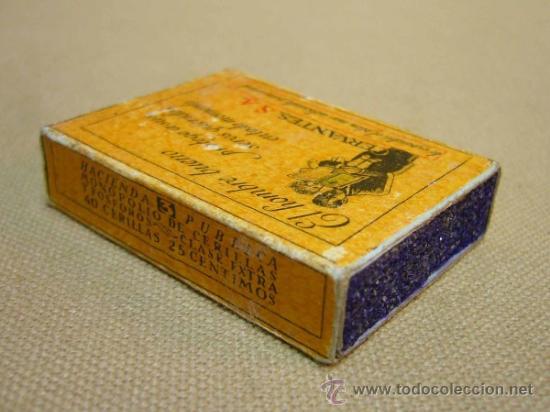 Cajas de Cerillas: RARA CAJA DE CERILLAS, HACIENDA PUBLICA, COMPANIA ARRENDATARIA DE FOSFOROS, CERVANTES S.A., MADRID - Foto 4 - 35101576