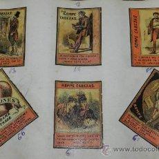 Cajas de Cerillas: HOJA CON ETIQUETAS DE CAJAS DE CERILLAS - ALLUMETTES ANCIENNE ÉTIQUETTE - OLD LABEL MATCHBOXES, DE M. Lote 35615162