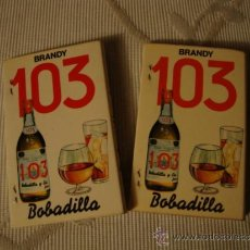 Cajas de Cerillas: 2 CAJAS DE CERILLAS DE COLECCION BRANDY 103 BOBADILLA. Lote 35636164
