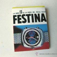 Cajas de Cerillas: CAJA DE CERILLAS CON PUBLICIDAD DE RELOJES FESTINA - AÑOS 80. Lote 35687379