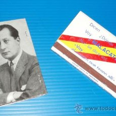 Cajas de Cerillas: CARTERITA DE CERILLAS DEL RESTAURANTE MALACATÍN. BANDERA ESPAÑA Y JOSÉ ANTONIO. . Lote 36005134