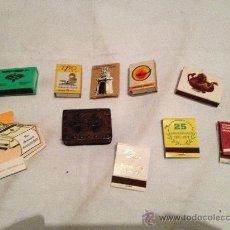 Cajas de Cerillas: LOTE DE 10 CAJAS DE CERILLAS (CON CERILLAS). Lote 36342995