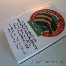 Cajas de Cerillas: CAJA CERILLAS *REAL COMPAÑÍA CERVECERA CASA FERNÁNDEZ ·BARCELONA* - JAVIER DE LAS MUELAS-CIRCA 1992. Lote 36502438