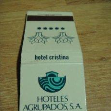 Cajas de Cerillas: CAJA O CARTERITA DE CERILLAS HOTEL CRISTINA - LAS PALMAS DE GRAN CANARIA. Lote 36503335