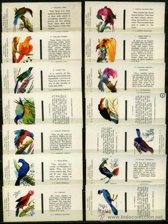 30 CAJAS DE CERILLAS FOSFORERA ESPAÑOLA - PAJAROS (Coleccionismo - Objetos para Fumar - Cajas de Cerillas)