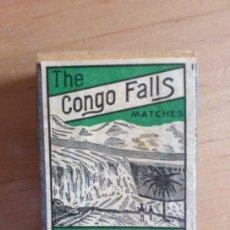 Cajas de Cerillas: THE CONGO FALLS MATCHES,CAJA DE CERILLAS U.S.A. AÑOS 30-40.VACIA.MIDE 5 X 3 X 1,5 CM. PTOY.. Lote 37089092