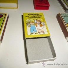 Cajas de Cerillas: CAJA DE CERILLAS ANTIGUA RETRO CAMPAÑA PRO SEGURIDAD CIUDADANA. Lote 142201481