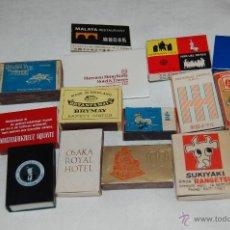 Cajas de Cerillas: CAJAS DE CERILLAS PUBLICITARIAS ,EXTRANJERAS. Lote 39672664